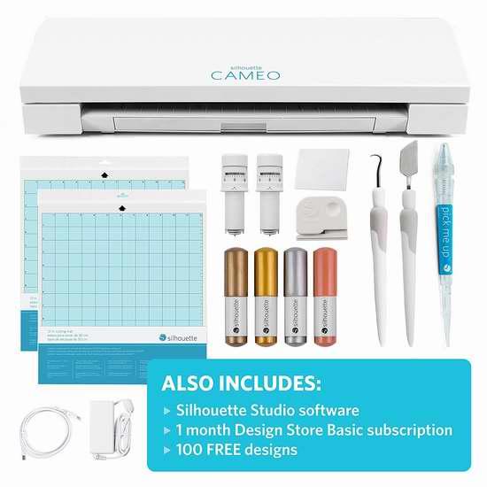 历史新低!Silhouette Cameo 3 第三代全自动定位小型模切机/切割机/刻字机入门套装 289.99加元限量特卖并包邮!