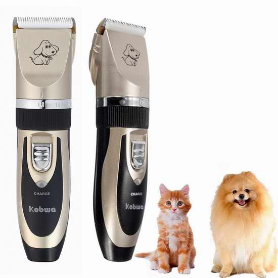 Kobwa 低噪音猫狗宠物充电式剪发器/电推剪 27.27加元限量特卖!