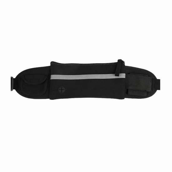 Refoss 黑色多功能运动腰包/跑步腰带/健身收纳包/防盗手机包 9.99加元限时特卖!