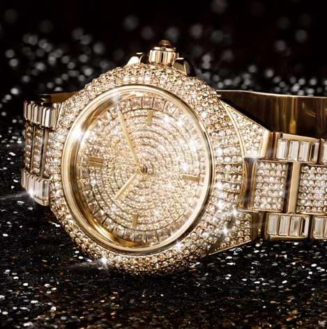 Michael Kors MK5720 女士奢华金色施华洛世奇水晶腕表 420.88加元包邮!