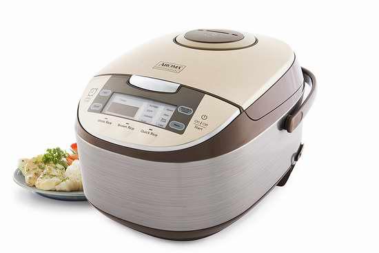 历史新低!Aroma Housewares ARC-6106 多功能智能触控 电饭锅/慢炖锅/蒸锅 96.09加元限时特卖并包邮!