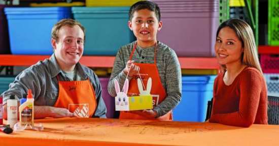 Home Depot 4月8日免费儿童手工课,制作复活节兔子篮,本月另有2个家庭装修免费课程!