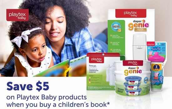 购买 Playtex 婴幼儿产品+儿童书籍 额外立省5加元!