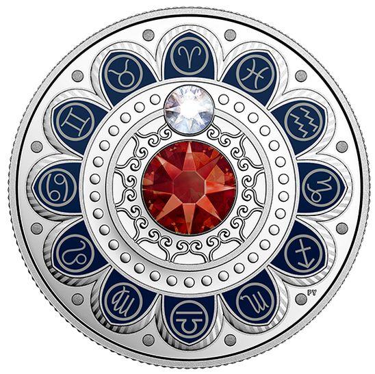 2017 施洛华世奇水晶 Zodiac系列 白羊座 纯银纪念币 54.95加元销售并包邮!