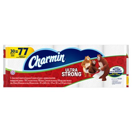 Charmin Ultra Soft/Strong 超软/超强 超大包装双层卫生纸30卷装 13.97加元限时特卖!店内pickup满50元立省10元!