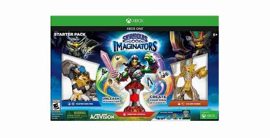 历史新低!《Skylanders Imaginators 小龙斯派罗 幻想者》Wii U/PS4/Xbox One游戏套装 29.99-39.99加元限时特卖!