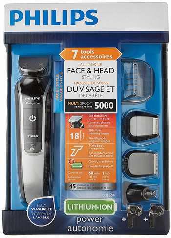 金盒头条:近史低价!Philips 飞利浦 QG3364/16 全能电动理发/剃须刀6.2折 30.99加元!