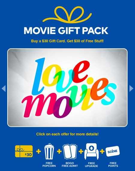 最后机会!Cineplex 购买30加元礼品卡,送价值30加元电影大礼包!