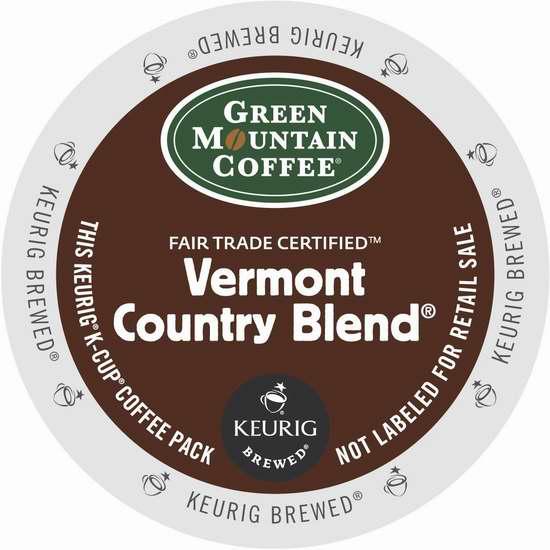 历史新低!Green Mountain Coffee 绿山咖啡 Vermont 佛蒙特州 K-Cup 咖啡胶囊(96颗) 43.88加元限时特卖并包邮!