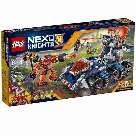 LEGO 乐高 70322 未来骑士系列 艾克索的合体塔防战车54加元,原价 89.95加元,包邮