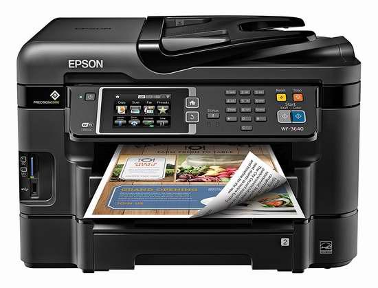 历史新低!Epson 爱普生 Workforce WF-3640 多功能无线彩色喷墨打印机4.2折 85.16加元限时特卖并包邮!