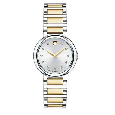 历史新低!Movado 摩凡陀 606790 Concerto 女士时尚钻石腕表/手表2.9折 389.58加元限时清仓并包邮!