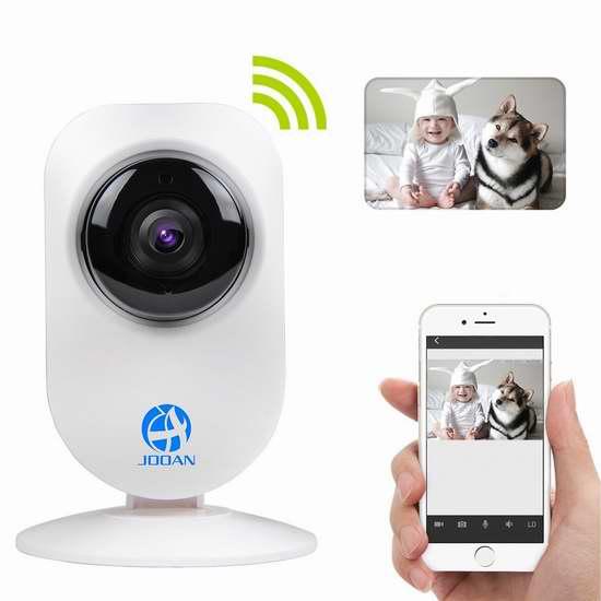 JOOAN A5 720P 高清WiFi云监控夜视摄像头 23.53加元限量特卖!
