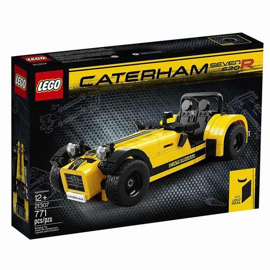 历史新低!LEGO 乐高 21307 卡特汉姆 620R复古跑车(771pcs)7折 69.97加元包邮!