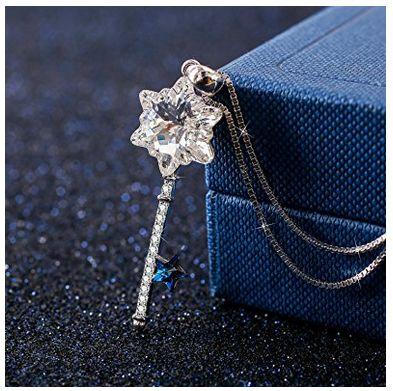 J.Rosée Necklace 施华洛世奇元素钥匙纯银项链2折 25.49加元限量特卖并包邮!