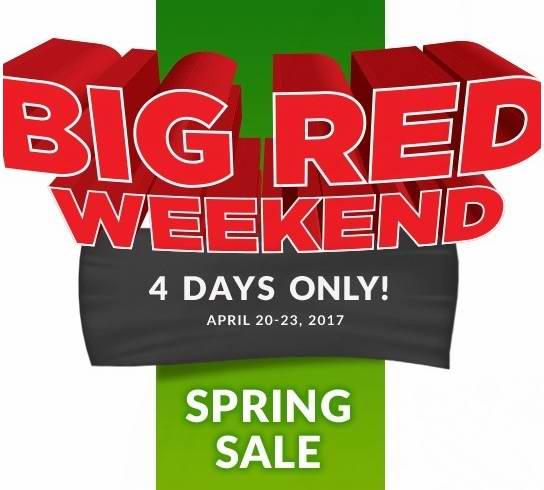 Canadian Tire Big Red 春季特卖!全场3折起,4月20日店内购物满200元送50元礼品卡!