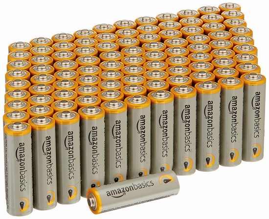 历史新低!AmazonBasics AA Performance Alkaline 碱性电池100只装 17.9-22.37加元限时特卖!