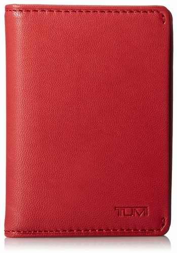 历史新低!TUMI 途明 Chambers 红色真皮卡包/钱包3折 35.32加元限时清仓并包邮!