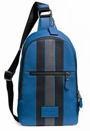 Coach 粒面皮革摩登条纹校园背包/胸包5.6折 264.37加元限时特卖并包邮!