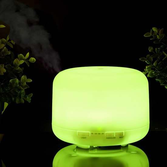 Collee 500mL 超静音精油香薰/加湿器 内置7彩液晶灯 31.44加元限量特卖并包邮!