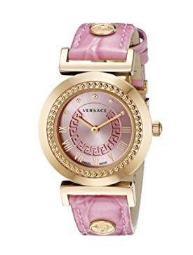 历史新低!Versace 范思哲 P5Q80D111 S111 女式粉红镀金时尚腕表4.4折 599加元限时清仓并包邮!