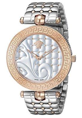 历史新低!Versace 范思哲 Vanitas VK723 0015 女士不锈钢玫瑰金双色腕表/手表4.1折 1070.28加元限时清仓并包邮!
