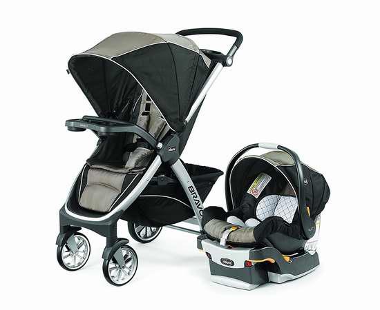 历史新低!Chicco 智高 7976151 Bravo Kf30 婴儿推车提篮安全座椅旅行套装 449.99加元限时特卖并包邮!两色可选!