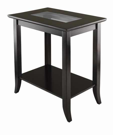 历史新低!Winsome Wood Genoa 玻璃台面长方形时尚茶几/边桌4.6折 79.03加元包邮!