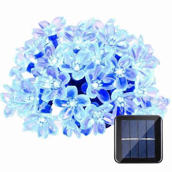 Qedertek 50 LED 防水太阳能 室内/户外 装饰灯 8.99-10.19加元限量特卖!5色可选!