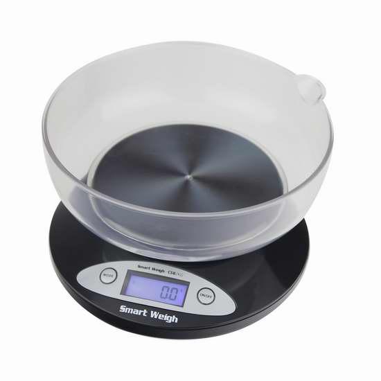 Smart Weigh CSB2KG 家用数字厨房秤3.6折 12.74加元限量特卖!