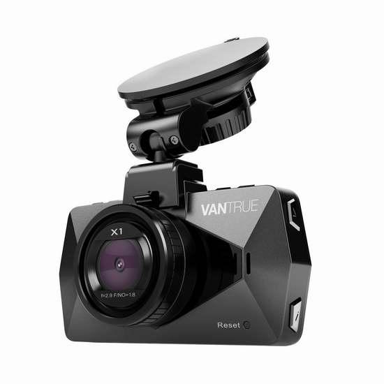 Vantrue X1 1080P 全高清超大广角超级夜视行车记录仪 99.99加元限量特卖并包邮!