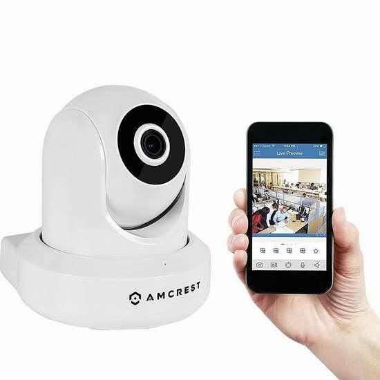 Amcrest HDSeries 720P IPM-721 无线Wi-Fi安全监控摄像头 80.74加元限量特卖并包邮!