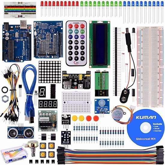 Kuman Project Arduino 升级版入门者学习套装 34加元限量特卖并包邮!