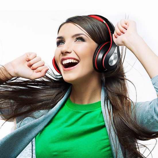 Mpow 超长续航无线蓝牙头戴式耳机 44.99加元限量特卖并包邮!