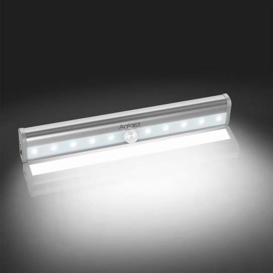 Aglaia 10 LED 室内运动感应灯/壁橱灯 11.99加元限量特卖!