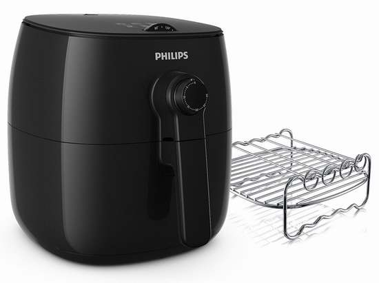 历史新低!新款 Philips 飞利浦 HD9622/96 Viva 空气炸锅+双层架 229.99加元限时特卖并包邮!黑白两色可选!