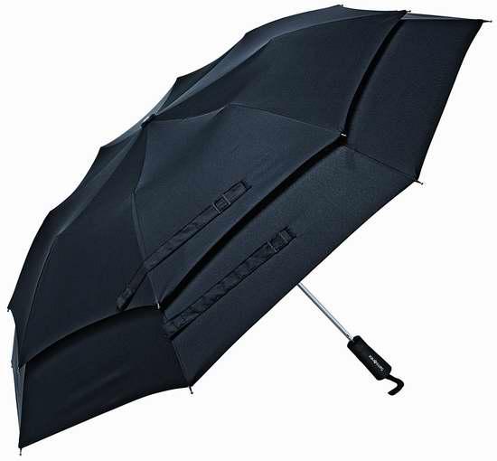 历史新低!Samsonite 新秀丽 Windguard 双层抗强风自动雨伞 25.42加元限时特卖!