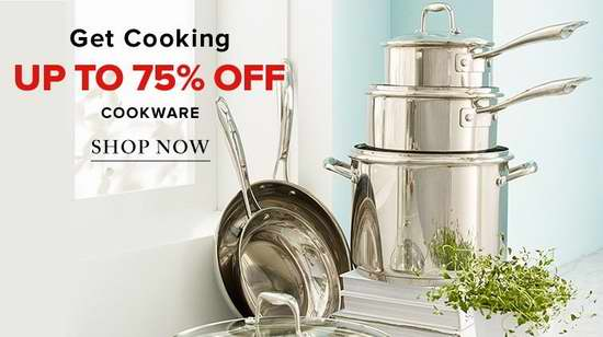 精选620款 Zwilling、Lagostina、Le Creuset、Cuisinart 等品牌厨房炊具2.5折起限时特卖!额外再打8.5折!
