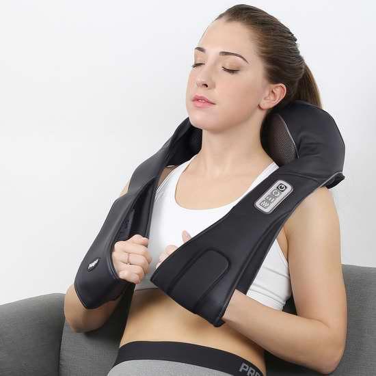 Naipo 红外加热 3D揉捏可调强度 充电式肩颈按摩披肩 98.99加元限时特卖并包邮!免税!