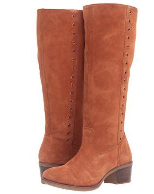 历史新低!Hush Puppies 暇步士 Ideal Nellie 女式防水麂皮优雅长靴2.7折 65.12加元限时清仓并包邮!