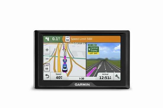 历史最低价!Garmin Drive 50 5英寸车载GPS导航仪 129.99加元包邮!