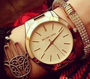 Michael Kors MK3179 女士金色简约风时尚腕表/手表 135.66加元包邮!