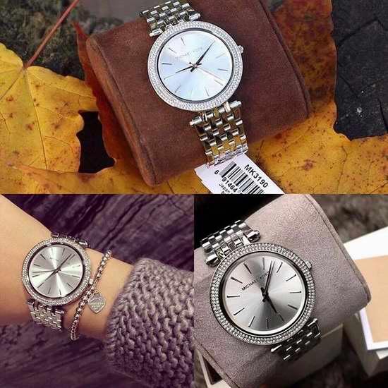 历史新低!Michael Kors MK3190 女士时尚简约水晶腕表/手表 139.95加元包邮!