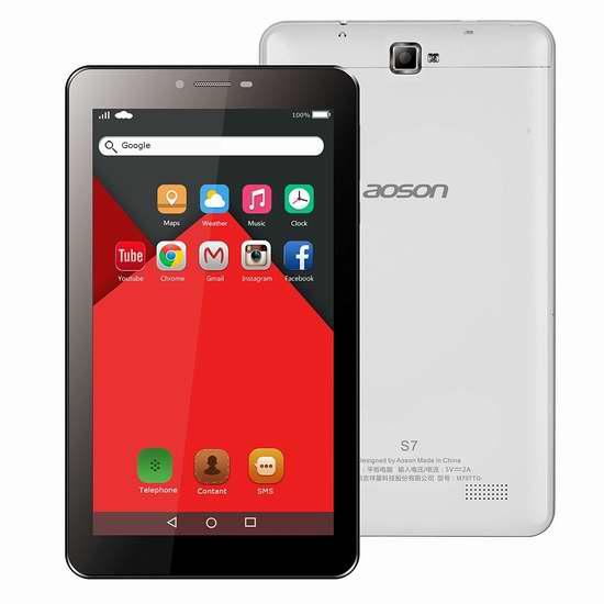 AOSON 7英寸双卡双待3G手机双频平板电脑 64.51加元限量特卖并包邮!