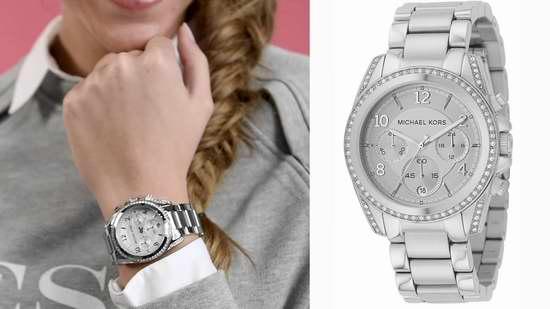 金盒头条:Michael Kors MK5165 女士时尚三眼石英腕表/手表 158.83加元限时特卖并包邮!