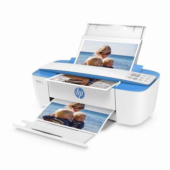 全球最小一体机!历史最低价!HP 惠普 DeskJet 3755 多功能一体无线喷墨打印机 49.99加元限时特卖并包邮!