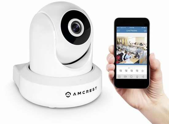 历史新低!Amcrest ProHD 1080P IP2M-841 无线Wi-Fi安全监控摄像头 94.71加元限量特卖并包邮!