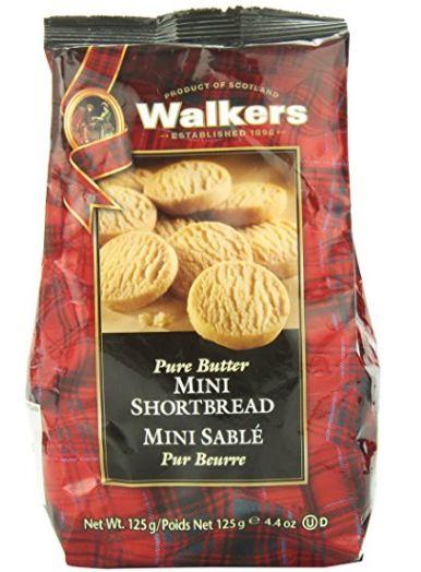百年老字号,苏格兰土特产:Walkers 迷你黄油酥饼 4.74加元特卖!