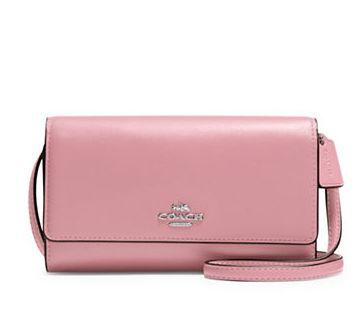 COACH 粉色手机包 86.8加元,原价 155加元