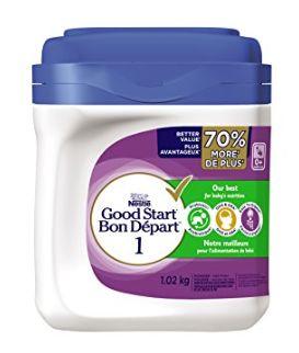 加拿大 Nestle 雀巢 Good Start 1含DHA&ARA益生菌配方奶粉 37.74加元(1.02 kg ),walmart同款原价 46.98加元,包邮